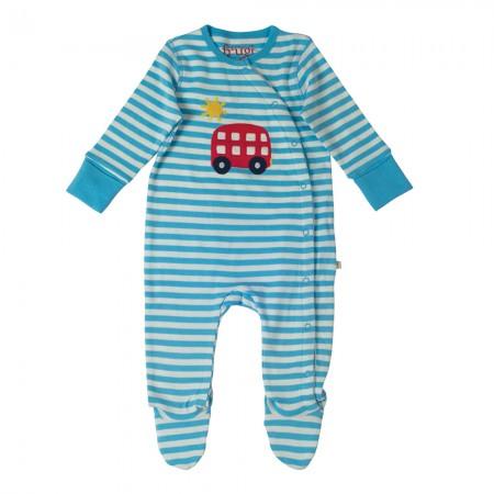 Frugi Blue/Bus Swoop Babygrow