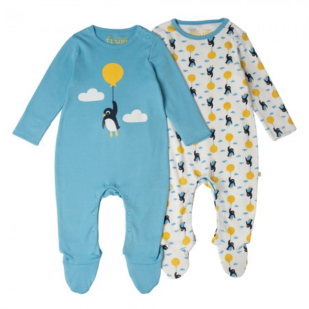 Frugi Up and Away Babygrow x2