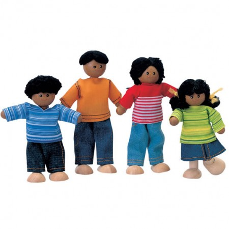 Plan Toys Brown Skin Family