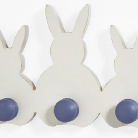 Bunny Peg Rack Blue
