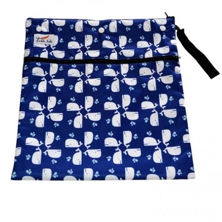 Tickle Tots Wet Bags-Blue Whales