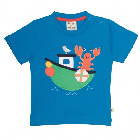 Frugi Diver Blue Boaty Top