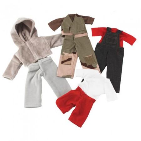Fair Trade Rag Doll Grey Set Clothes