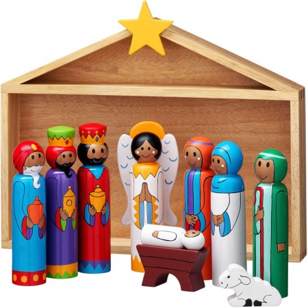 Lanka Kade Nativity Stable And 9 Characters