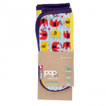 Pop-In Burp Cloths Elephant