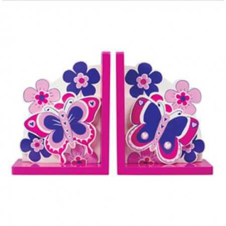 Fair Trade Flowers & Butterfly Bookends