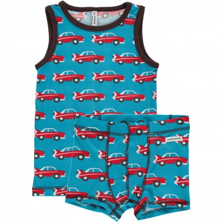 Maxomorra Car Boxers & Vest Set