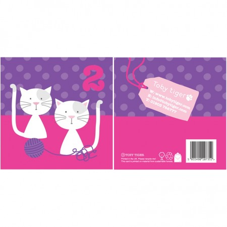 Toby Tiger 2nd Birthday Cats Card