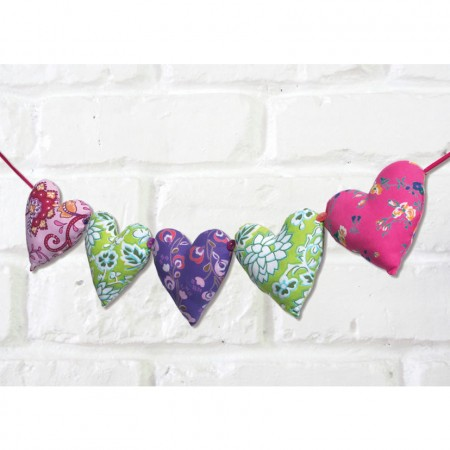 Namaste Fabric Hearts String