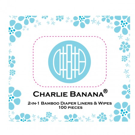 Charlie Banana 2-in-1 Liners & Wipes