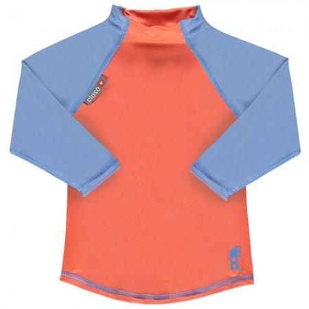 Pop-In LS Rash Vest Coral / Cornflower
