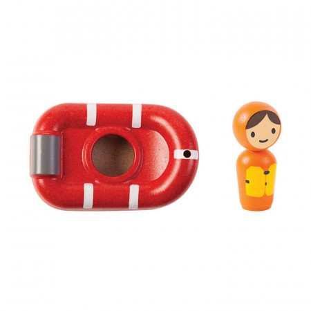 Plan Toys Coast Guard Boat Bath Toy