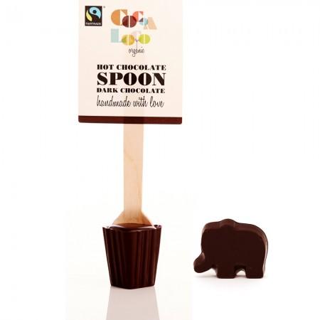 Cocoa Loco Babipur Dark Hot Chocolate Spoon & Elephant - Vegan