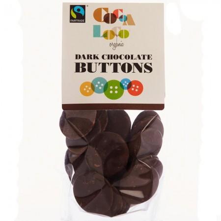 Cocoa Loco Dark Chocolate Buttons 100g