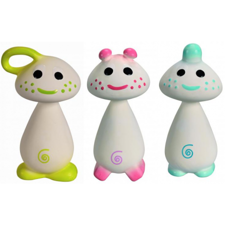 Chan, Pie & Gnon Natural Rubber Toys
