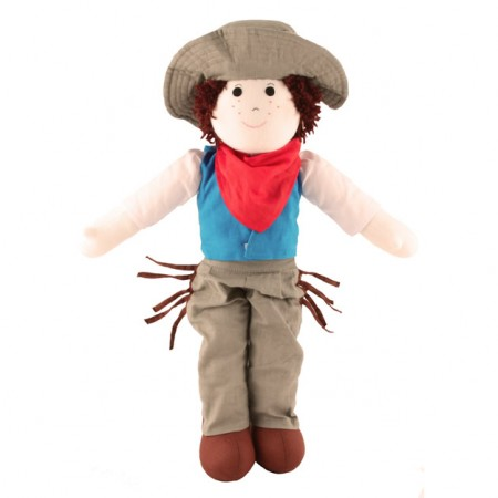 Fair Trade Rag Doll - Cowboy