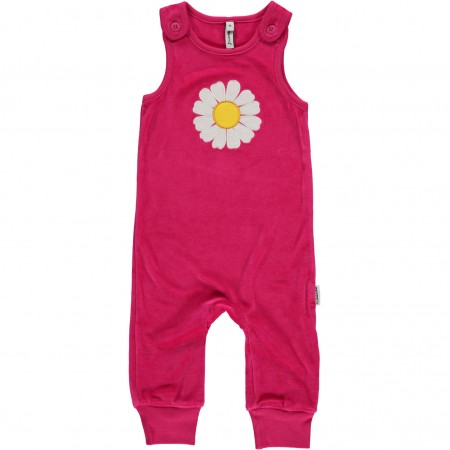 Maxomorra Daisy Embroidered Dungarees