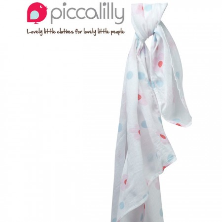 Piccalilly Daisy Print Muslin Swaddle