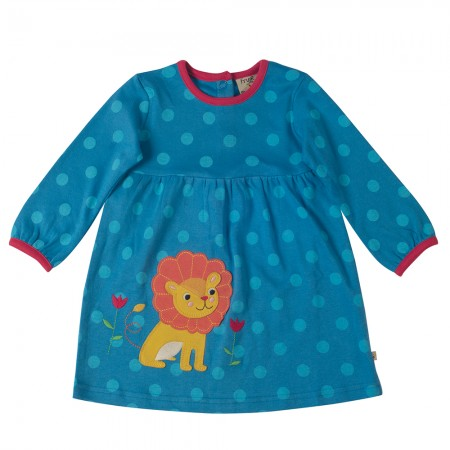 Frugi Blue Spot/Lion Dolcie Dress