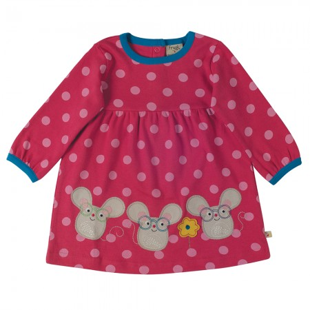 Frugi Pink Spot/Mice Dolcie Dress