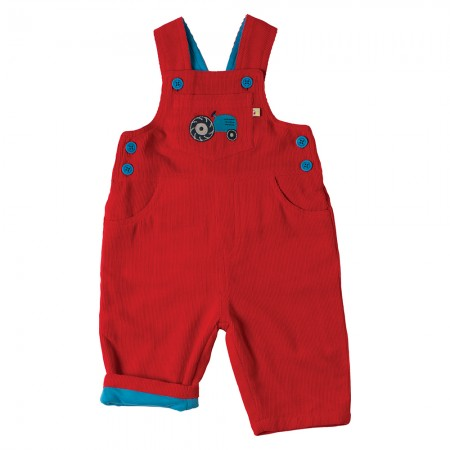 Frugi Tomato/Tractor Dylan Dungarees