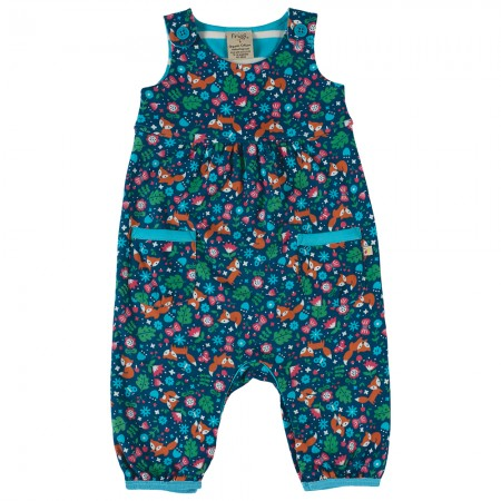 Frugi Forest Fox Flora Dungarees