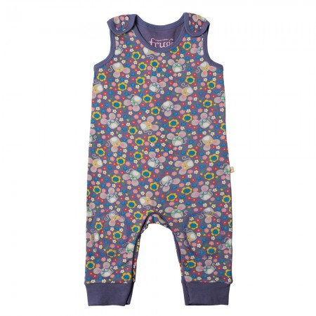 Frugi Mouse Ditsy Kneepatch Dungarees
