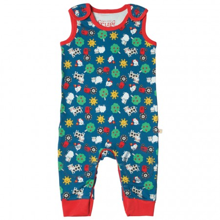 Frugi Sunny Farm Kneepatch Dungarees