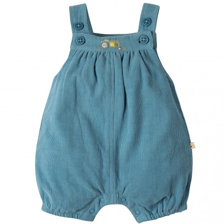 My First Frugi Stone Blue Cord Dungarees