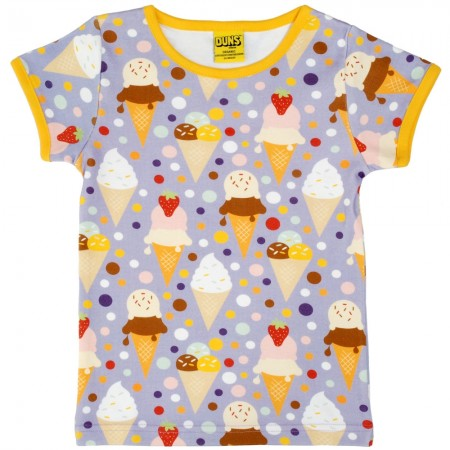 DUNS Adult Ice Cream Lavender SS Top