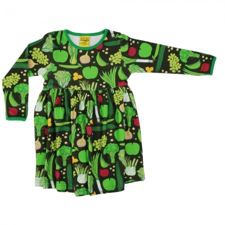 DUNS Adult Eat Your Greens LS Gathered Dress