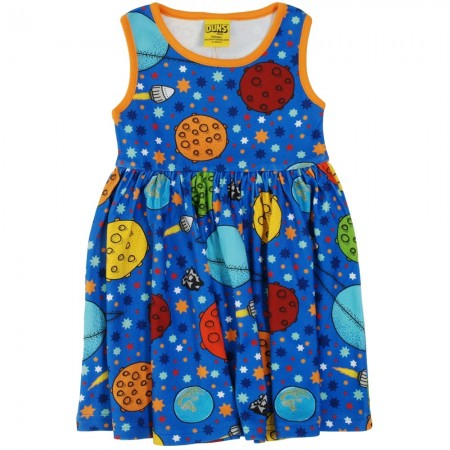 DUNS Adult Navy Lost In Space Sleeveless Gathered Dress