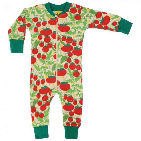DUNS Pale Yellow Growing Tomatoes LS Zip Suit
