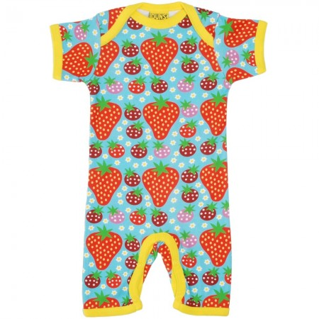 DUNS Turquoise Strawberry Field Summer Dungarees