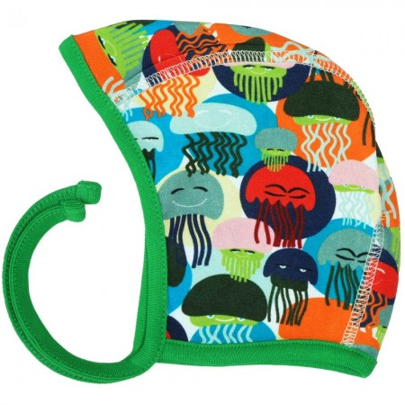 DUNS Jellyfish Blue & Green Baby Bonnet