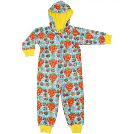 DUNS Turquoise Strawberry Field Lined Hooded Suit