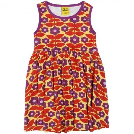 DUNS Adult Yellow Kurbits Sleeveless Gathered Dress