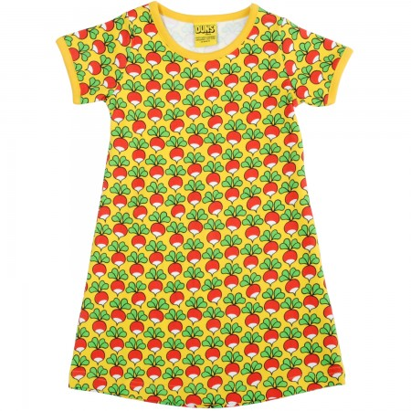 Duns Sweden Short Sleeve Dress - Radish/Yellow