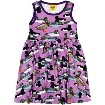 DUNS Violet Duck Pond Sleeveless Gathered Dress