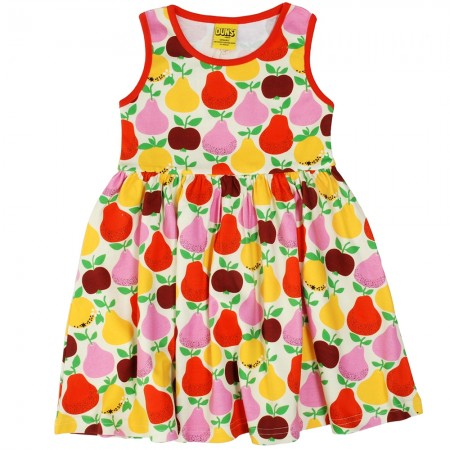 DUNS Fruit Dress With Red Trim