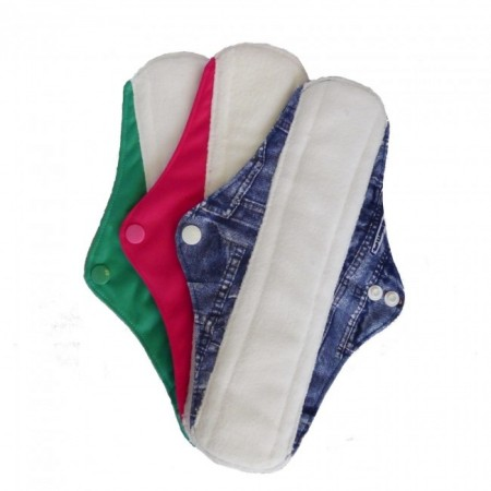 Earthwise Long Menstrual Pads - 3 Pack