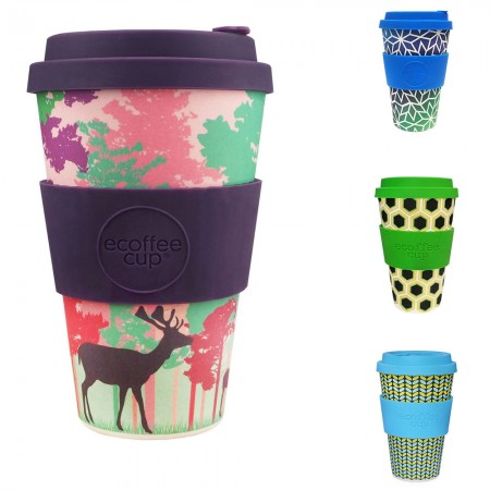 Ecoffee Cup Large 14oz Bamboo Coffee Cup - Patterns