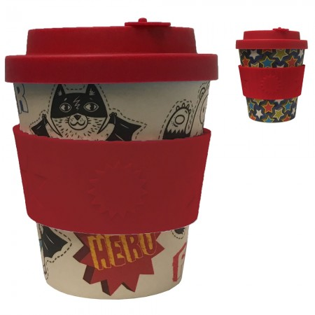 Ecoffee Cup 8oz Bamboo Kids Cup - Patterns