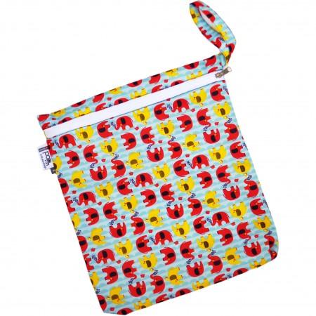 Babipur Elephant Zip Wet Bag