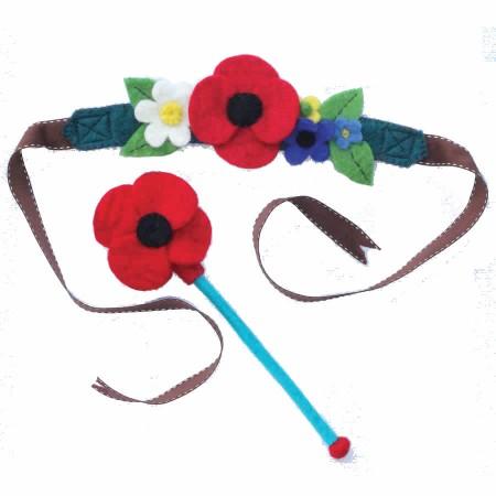 Sew Heart Felt Meadow Fairy Crown & Wand