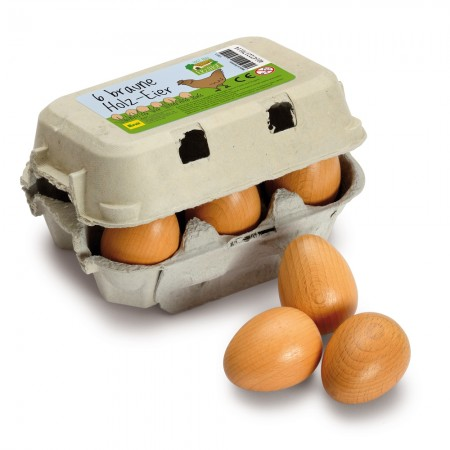 Erzi Six Brown Eggs