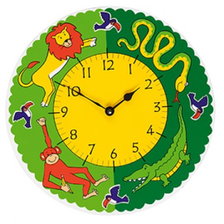 Fair Trade Jungle Fun Clock
