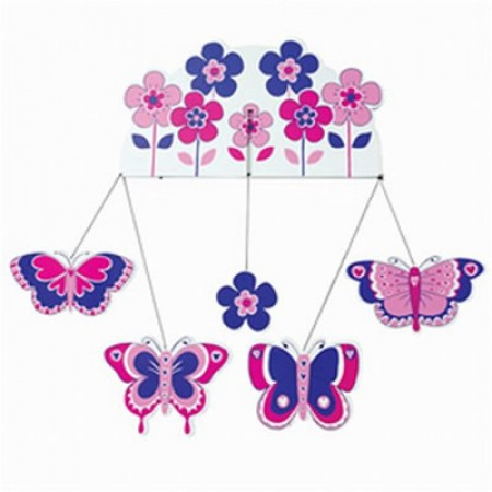 Fair Trade Flowers & Butterfly mobile