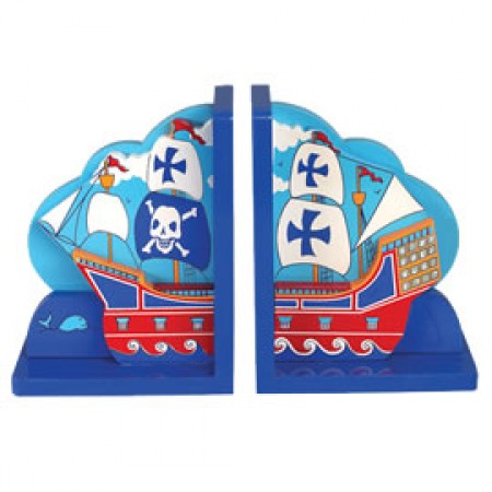 Fair Trade Pirate Ship Bookends