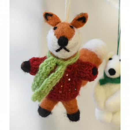 Fair Trade Felt Mr Fox Decoration by Namaste